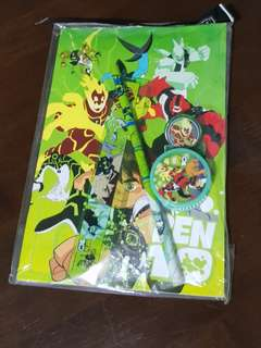 brand new Ben 10 stationery set