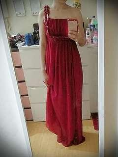 Dinner Long Dress red