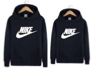Nike black couple hoddie