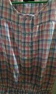 Checkered Long Top