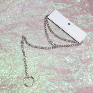 圓環扣鉤造型多用長鍊褲鍊項鍊