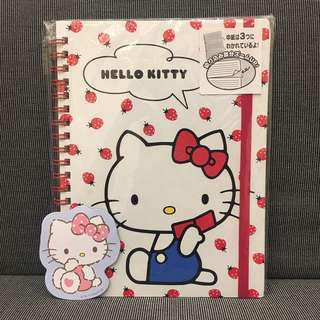 🚚 三麗鷗 Hello Kitty 絕版 筆記本 記事本 買就送磁鐵