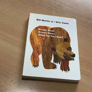 NEW Eric Carle Brown Bear Brown Bear What Do You See? (Boardbook)