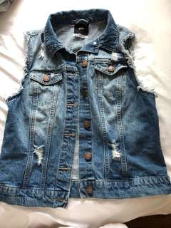 Urban outfitters- cut off jean vest