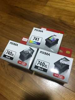 Canon 740XL and 742 Printer Ink