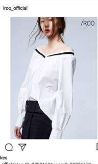 Iroo white top long sleeves