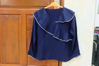 Blue longsleeve top