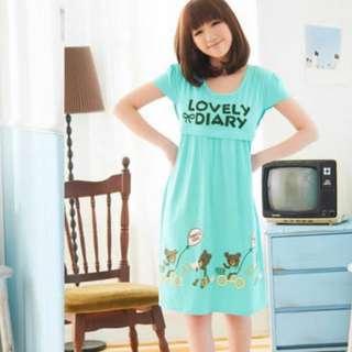 🚚 Brandnew Maternity Nursing Dress - Blue