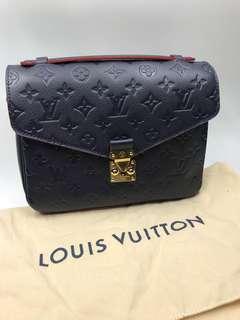 Louis Vuitton 大熱罕見 真皮紅色邊 側咩 Metis 全新購自法國保正真品