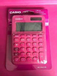 Brand New Casio Calculator MS-20UC-RD