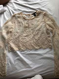 Forever 21 lace crop