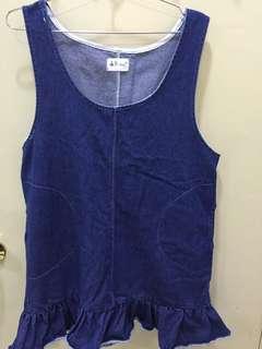 Oversize jean dress