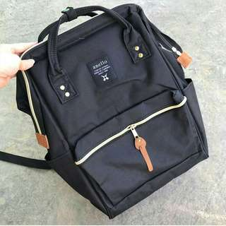 ANELLO BACKPACK CANVAS BLACK
