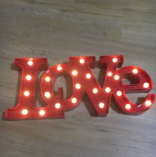 Red marquee led love light sign