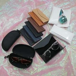 三角盒/拉鍊盒/皮質造型眼鏡盒