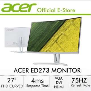 Acer ED273 27 Inch (16:9) FHD Curve Gaming Monitor with 75Hz Refresh Rate