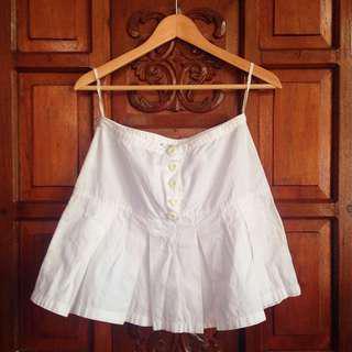 1954 White Highwaist Tennis Skater Skirt