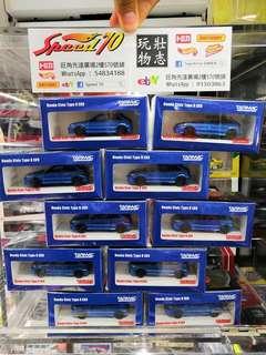 Tarmac Works 1/64 Honda Civic Type R EK9 本田 思域 Tomica Kyosho Size