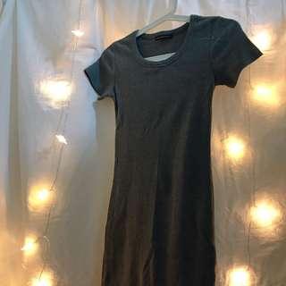 🚚 二手/歐美彈性合身顯胸顯臀顯腰身連身裙