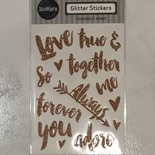 Rose Gold Glitter Stickers