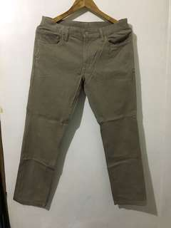 Uniqlo Khaki Slim Fit Pants