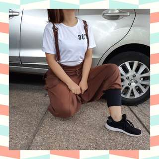Overall oversize brown