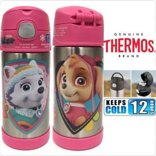 BN: Thermos Funtainer 12 ounce Water Bottle, Paw Patrol Pink
