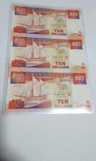 Singapore Uncut Ship 3 pcs $10