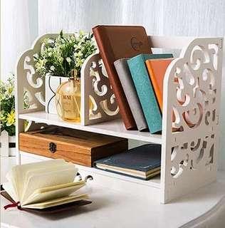 Rak buku rak meja hiasan organizer dekorasi rumah