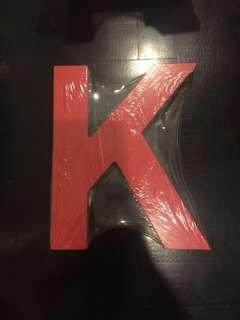 Wooden Letter K (red)