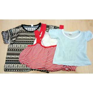 3pcs Kiddos Tops