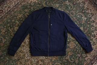 Zara Navy Blue Bomber Jacket | XL