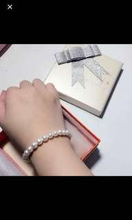 周大福珍珠手鏈 全新
