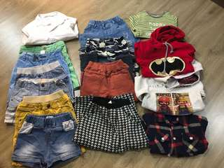 Kids winter clothes +summer pants 1-3years old total 110rm