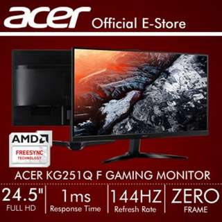 Acer KG251Q F 24.5-Inch Full HD Gaming Monitor with 144Hz Refresh Rate + 1ms Response Time