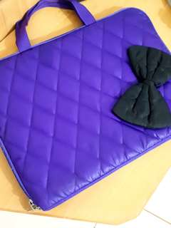Purple Bow Laptop Case 15""