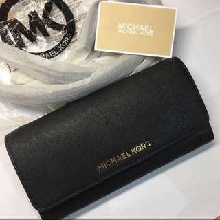 Michael Kors Jet Set Travel Saffiano Leather Chain Wallet