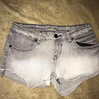 Washed Gray Shorts