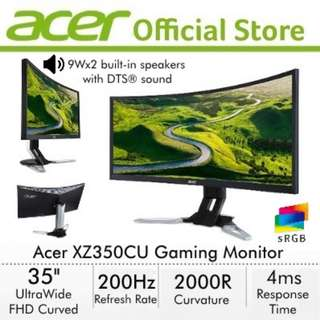 Acer XZ350CU 35 Inch UltraWide FHD Curved with 200Hz Refresh Rate Gaming Monitor