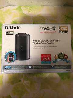 D Link Wireless AC1200 Dual Band Gigabit Cloud Router
