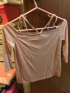 Brand new Air space pale pink top