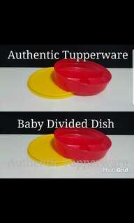 Authentic Tupperware  Baby Divided Dish 350ml 16.6cm(D) x 3.60cm(H)  《Retail Price S$9.00/Pc》
