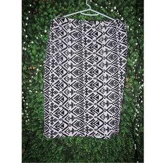 Aztec Print Midi Skirt