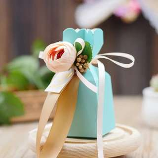 Premium European Style Tiffany Blue Flower Standing Box