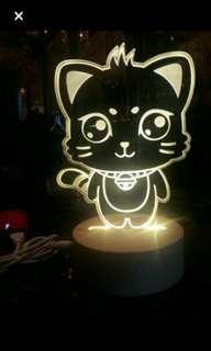出售全新靚靚貓貓小燈