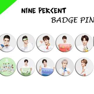 🚚 NINE PERCENT Plastic Badge Photo Brooch Button Pin