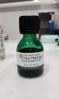 The body shop tea tree oil 20ml (botol besar)