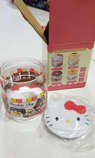 7 eleven - kitty flat glass container
