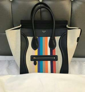 Celine Mini Luggage Canvas