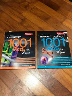(W/ FREE RI NJC A LEVEL CHEM BIO NOTES) O level all about biology and all about chemistry 1001 mcq workbooks